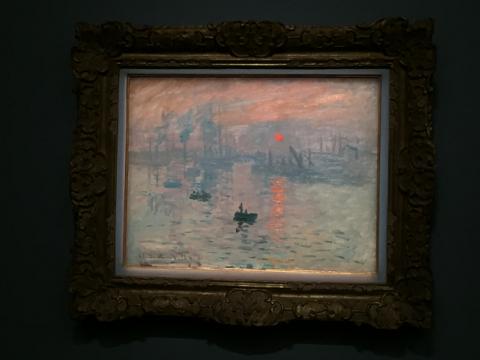 クロード・モネ《印象、日の出》1872年 マルモッタン・モネ美術館 東京展展示期間:9月19日~10月18日