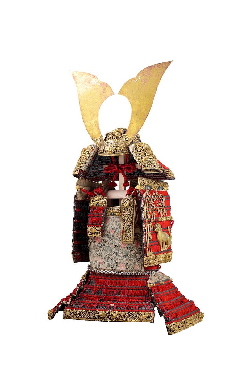赤糸威大鎧(竹虎雀飾)
