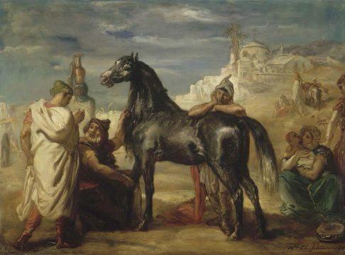 《雌馬を見せるアラブの商人》