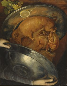 ジュゼッペ・アルチンボルド《コック/肉》 1570年頃 ストックホルム国立美術館蔵 ©Photo:Bodil Karlsson/Nationalmuseum