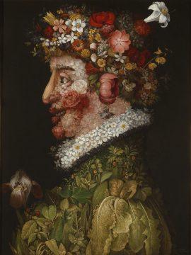 ジュゼッペ・アルチンボルド《春》 1563年 マドリード、王立サン・フェルディナンド美術アカデミー美術館所蔵 ©Museo de la Real Academia de Bellas Artes de San Fernando,Madrid