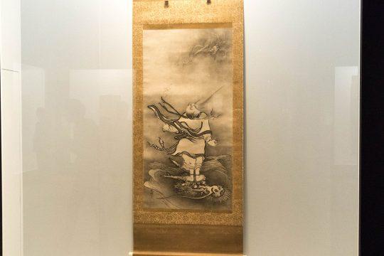 雪村筆 《呂洞賓図》 重要文化財 室町時代(16世紀)奈良・大和文華館蔵