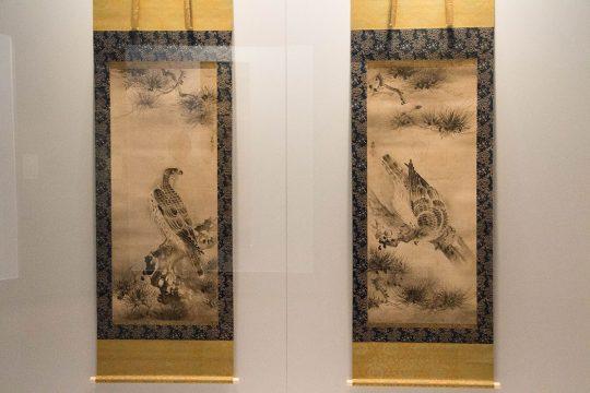 雪村筆 《松鷹図》 重要文化財 室町時代(16世紀) 東京国立博物館蔵