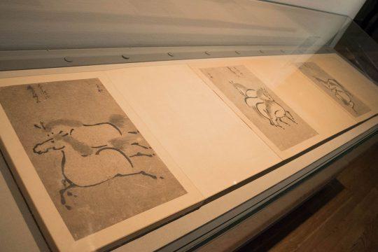 雪村筆 《百馬図帖》(部分) 室町時代(16世紀) 鹿島神宮蔵
