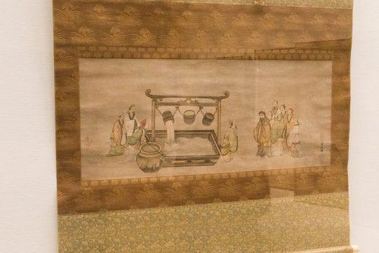 雪村筆 《孔子観欹器図》 室町時代(16世紀) 奈良・大和文華館蔵