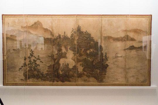 雪村筆 《金山寺図屏風》 室町時代(16世紀) 茨城・笠間稲荷美術館蔵