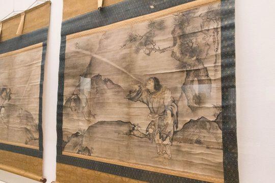 雪村筆 《蝦蟇鉄拐図》(部分) 室町時代(16世紀) 東京国立博物館蔵