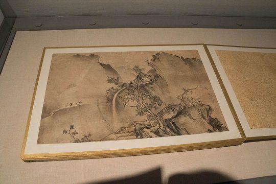 雪村筆 《瀟湘八景図帖》(部分) 室町時代(16世紀) 福島県立博物館蔵