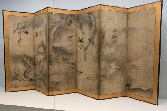 雪村筆 《花鳥図屏風》 室町時代(16世紀) ミネアポリス美術館蔵