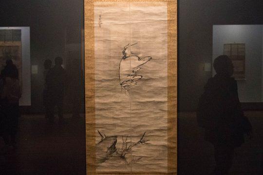 雪村筆 《列子御風図》(部分) 室町時代(16世紀) 東京・公益財団法人アルカンシエール美術財団蔵