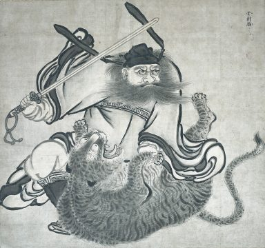 ①雪村筆 《鍾馗図》 1幅 100.2×106.7cm 個人蔵 【展示期間:4月25日~5月21日】