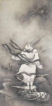 雪村筆 《呂洞賓図》 重要文化財 1幅 119.2×59.6cm 奈良・大和文華館蔵 【展示期間:3月28日~4月23日】