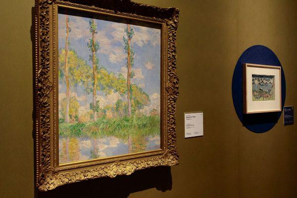 クロード・モネ《陽を浴びるポプラ並木》1891年 国立西洋美術館(松方コレクション)