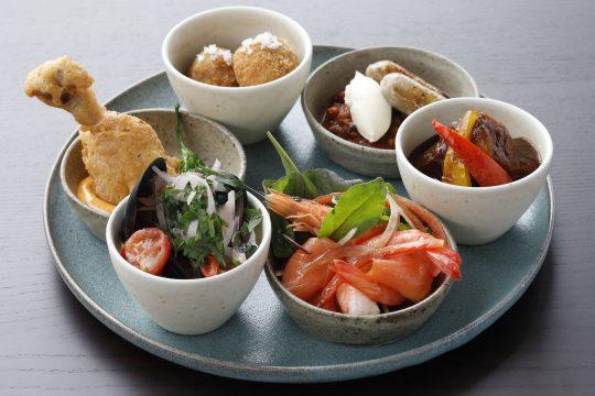 6種類の洋食タパスプレート