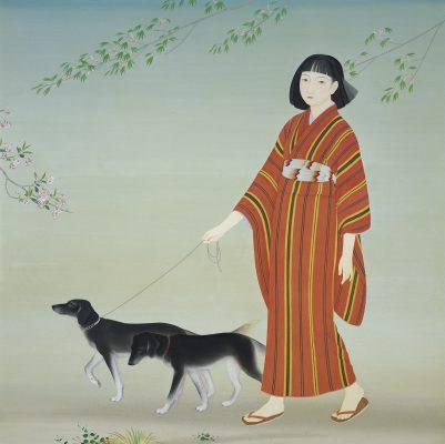 菊池契月《散策》昭和9年(1934)京都市美術館蔵
