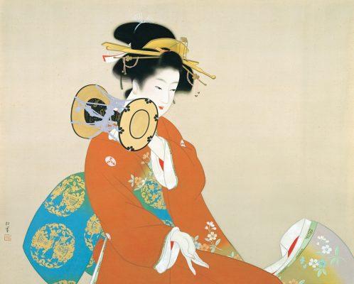 上村松園《鼓の音》昭和15年(1940)松伯美術館蔵