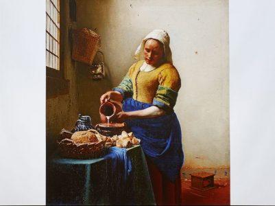 「牛乳を注ぐ女」 1660年頃 アムステルダム国立美術館