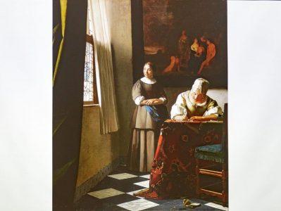 「手紙を書く婦人と召使い」 1670-1671年頃 アイルランド・ナショナル・ギャラリー