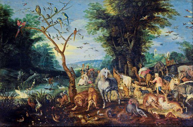 ヤン・ブリューゲル1世《ノアの箱舟への乗船》1615年頃 Anhaltische Gemäldegalerie Dessau