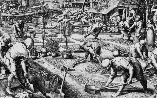 ピーテル・ブリューゲル1世[下絵] ピーテル・ファン・デル・ヘイデン[彫版]《春》1570年 Private Collection