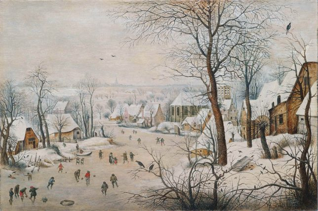 ピーテル・ブリューゲル2世《鳥罠》1601年 Private Collection, Luxembourg