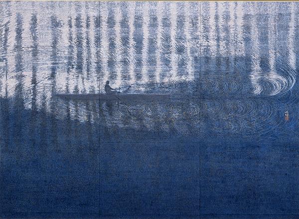 「行間のよみ」(ぎょうかんのよみ) 2015 年 足立美術館蔵